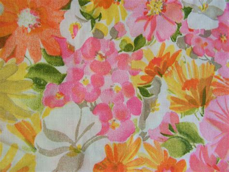 bright floral upholstery fabric vintage floral fabric bright 50s flowers print cotton sheet