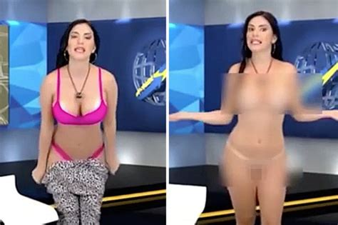 Naked News Reporter Strips Totally Nude On Racy Tv Show Daily Star