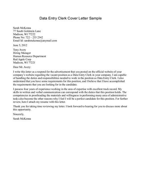 front desk clerk cover letter clerical cover letter template