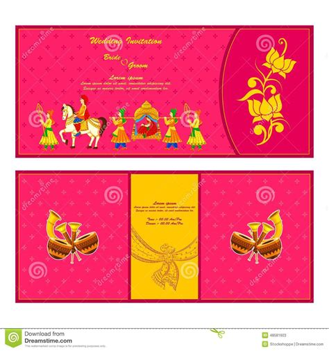 Indian Wedding Card Design Vector by Indian Wedding Cards Vector Clipart 71