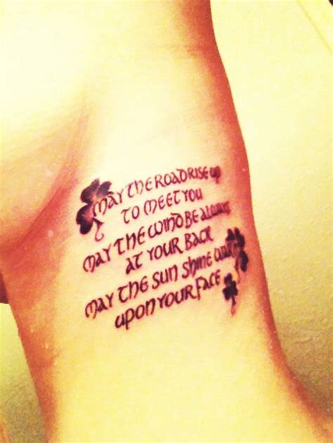 irish blessing tattoo blessing