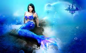 Real life mermaid girls photography with photoshop graphics effects hd