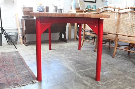 butcher block restaurant tables butcher block restaurant prep table with painted metal
