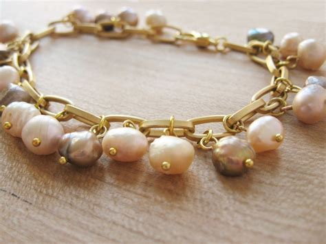 Freshwater Pearl Charm Bracelet   How Did You Make This?   Luxe DIY