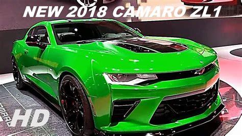 camaro 2018 green 2018 chevy camaro zl1 green edition interior and exterior