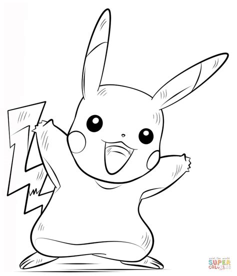 pokemon coloring pages pikachu cartoons printable coloring pikachu pokemon coloring page free printable coloring pages