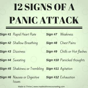 signs     panic attack   thrive blog