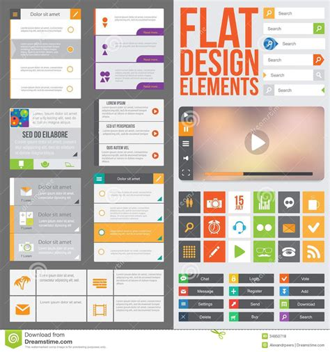 design elements for apps flat web design royalty free stock photos image 34850718