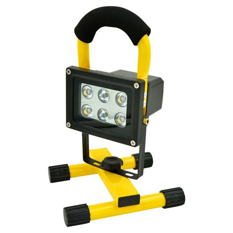 mengsled mengs 174 10w portable led rechargeable flood