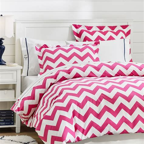girls chevron bedding chevron duvet cover sham pink magenta pbteen