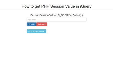 tutorial php session how to get php session value in jquery free source code