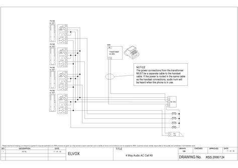 elvox wiring diagrams