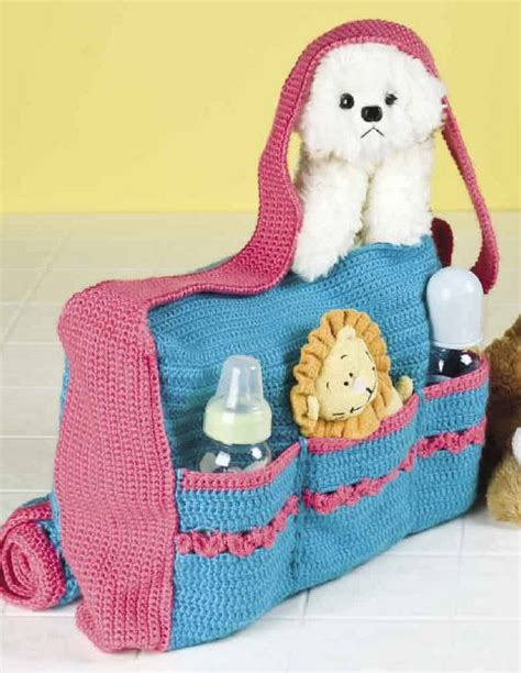 Free Crochet Pattern Baby Bag | free crochet diaper bag bing images crochet pinterest