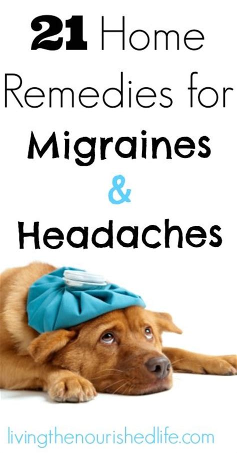 migraine home remedies and remedies on