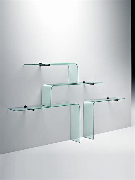 mensole rialto l glass shelf by fiam glassdomain