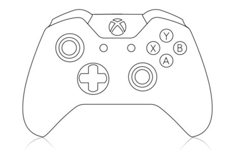 Coloring Pages Of Xbox | xbox controller coloring page printable editable blank
