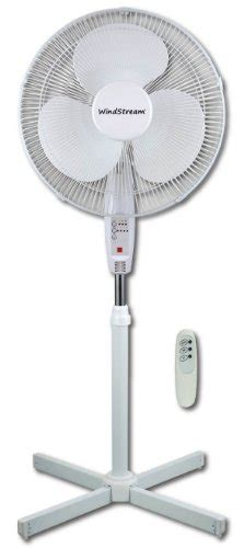 easy to clean fan windstream 16 inch oscillating remote stand