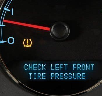 low tire pressure warning light recognizing the low tire pressure warning sign