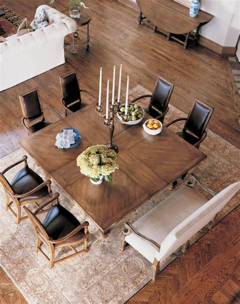 Square Dining Tables That Seat 8 Century Furniture Infinite Possibilities Unlimited Attention 174 Table For 8 The Square