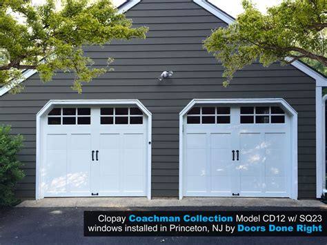 Garage Princeton Nj by Doors Done Right Garage Doors And Openers Clopay