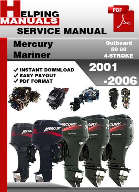 service repair manual free download 2001 mercury grand marquis electronic throttle control mercury mariner outboard 50 60 4 stroke 2001 2006 service repair ma