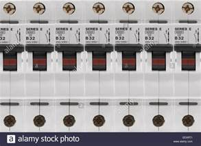 electrical circuit breaker fuse box switches stock photo royalty free image 78036113 alamy