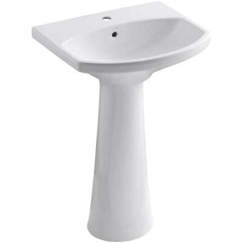 Cimarron Pedestal Sink kohler cimarron single vitreous china pedestal combo bathroom sink with overflow drain in
