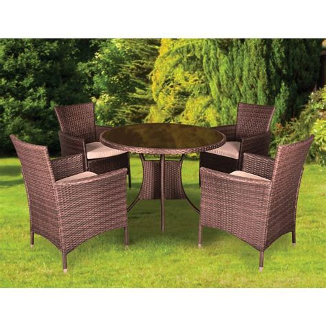 Garden Furniture Outlet 5 Wicker Garden Furniture Set Buy At Qd Stores