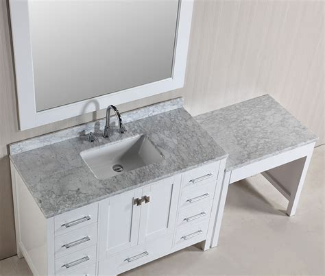"48"" London Single Sink Vanity Set in White Finish with One"