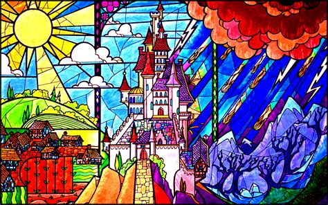 Classic Disney Wallpaper | stained glass disney wallpaper www imgkid com the