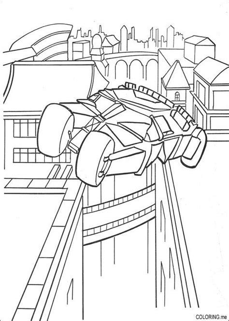 coloring page batman car jump coloring me