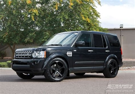 black land rover lr4 land rover lr4 custom wheels giovanna dalar 5 20x et