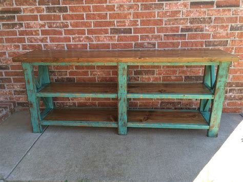 Rustic X Console Table Do It Yourself Home Projects From Do It Yourself Sofa Table