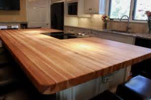 custom hickory butcher block island top wood species hick kitchen cabinets with black traditional