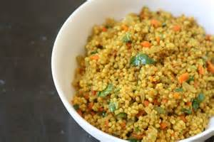 curried pearl couscous with cranberries and almonds recipe