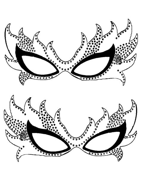 masquerade template free printable mardi gras coloring pages for