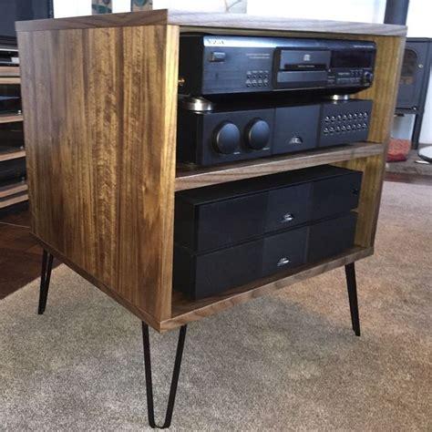 vintage tv stereo cabinet walnut tv hifi rack cabinet retro hairpin legs ebay