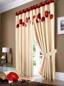 Red And Cream Eyelet Curtains Golden Cream Amp Red Poppy Ring Top Eyelet Curtain Curtains Uk