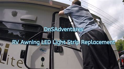 rv awning led light installation dnsadventures rv awning led light strip install youtube