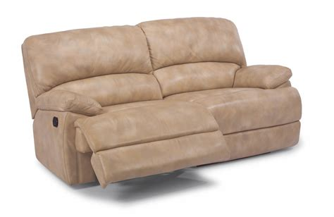 Flexsteel Sofa Recliners by Flexsteel Living Room Leather Two Cushion Chaise Reclining
