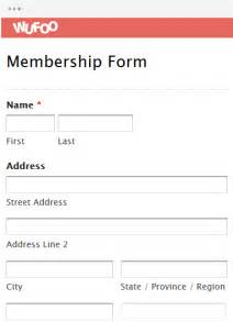 forms templates form template wufoo