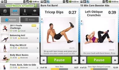 5 fitness apps for flat tummy and awesome six pack abs
