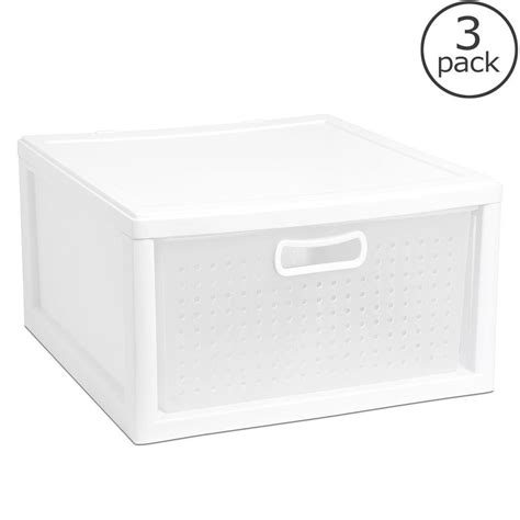 Sterilite 5 Drawer by Sterilite 5 Lb Closet Drawer 3 Pack 21108003 The