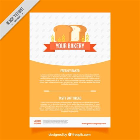 free bakery flyer templates bakery brochure template with loaf vector free