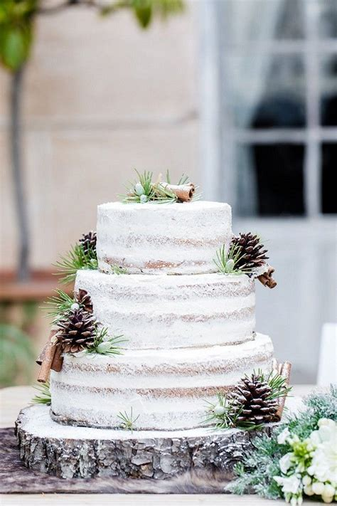 Winter Wedding Cakes by Ch 226 Teau Colbert Cannet Winter Wedding Inspiration Pine