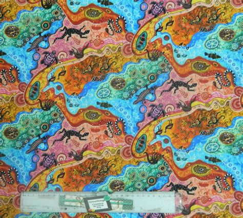 Patchwork And Quilting Fabric - patchwork quilting sewing fabric aboriginal dilkara bright