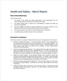 Hse Report Template by Sle Board Report 5 Documents In Pdf