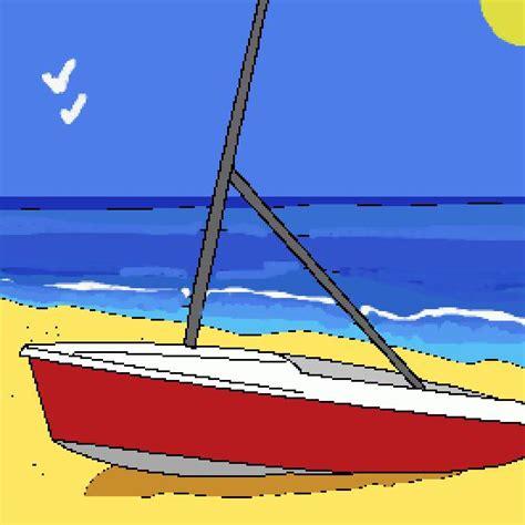 dibujo barco mar un color de verano hecho por gh