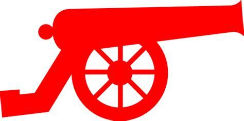 red cannon clip art  clkercom vector clip art