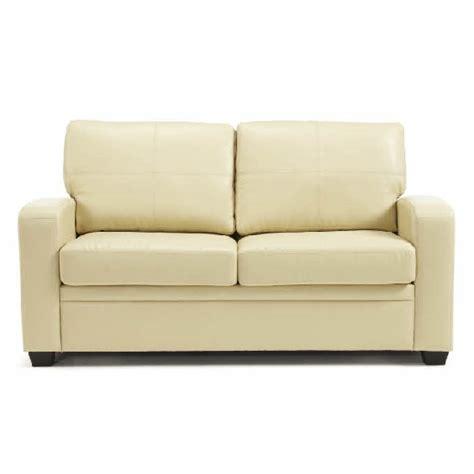 modern cream leather sofa catalina modern sofa bed in cream faux leather 25867